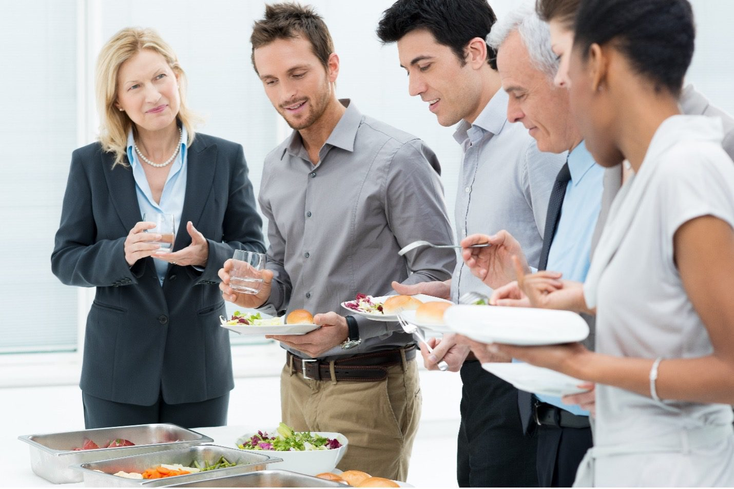 people gathered, event buffet. -- GetFound Events for New Business Locations, Startup, and Promotion
