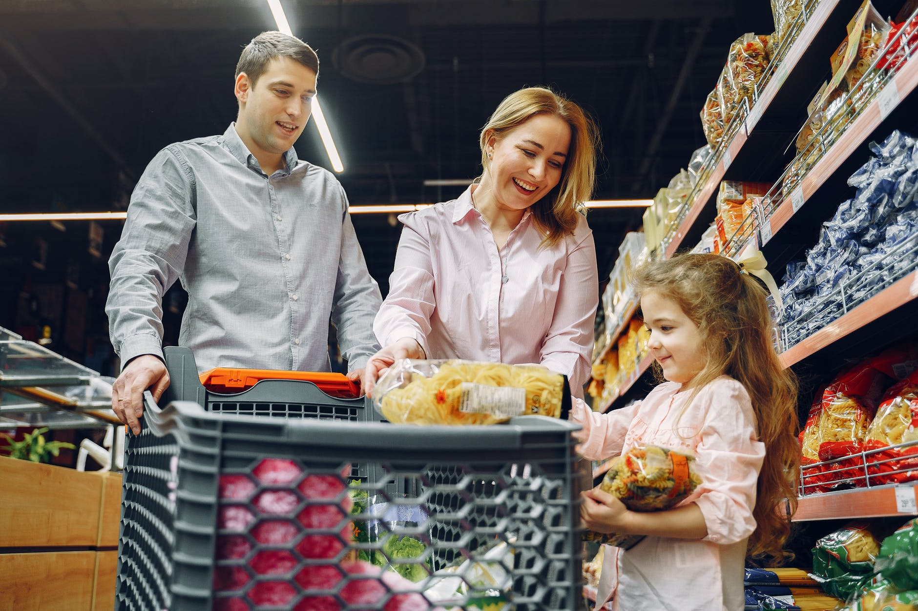 family doing grocery shopping | Remember when you